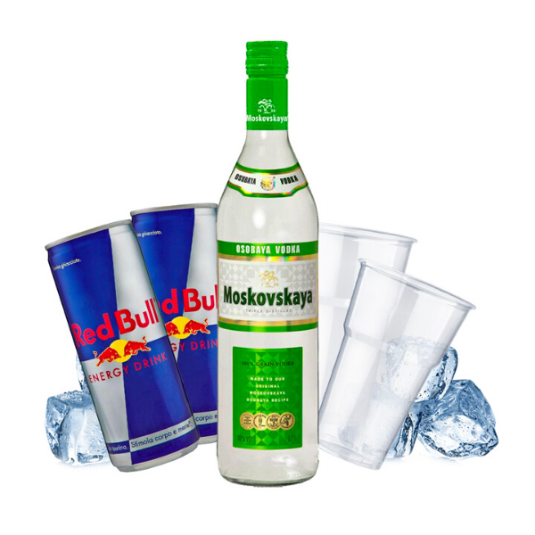 Moskovskaya - Vodka Red Bull Kit - per 10 persone