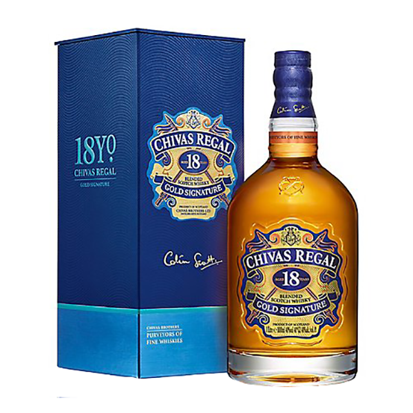 Chivas Gold Signature Blended Scotch Whisky 18 anni - Astucciato (70 cl)