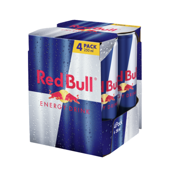 Red Bull Energy Drink (25 cl) 4 pezzi