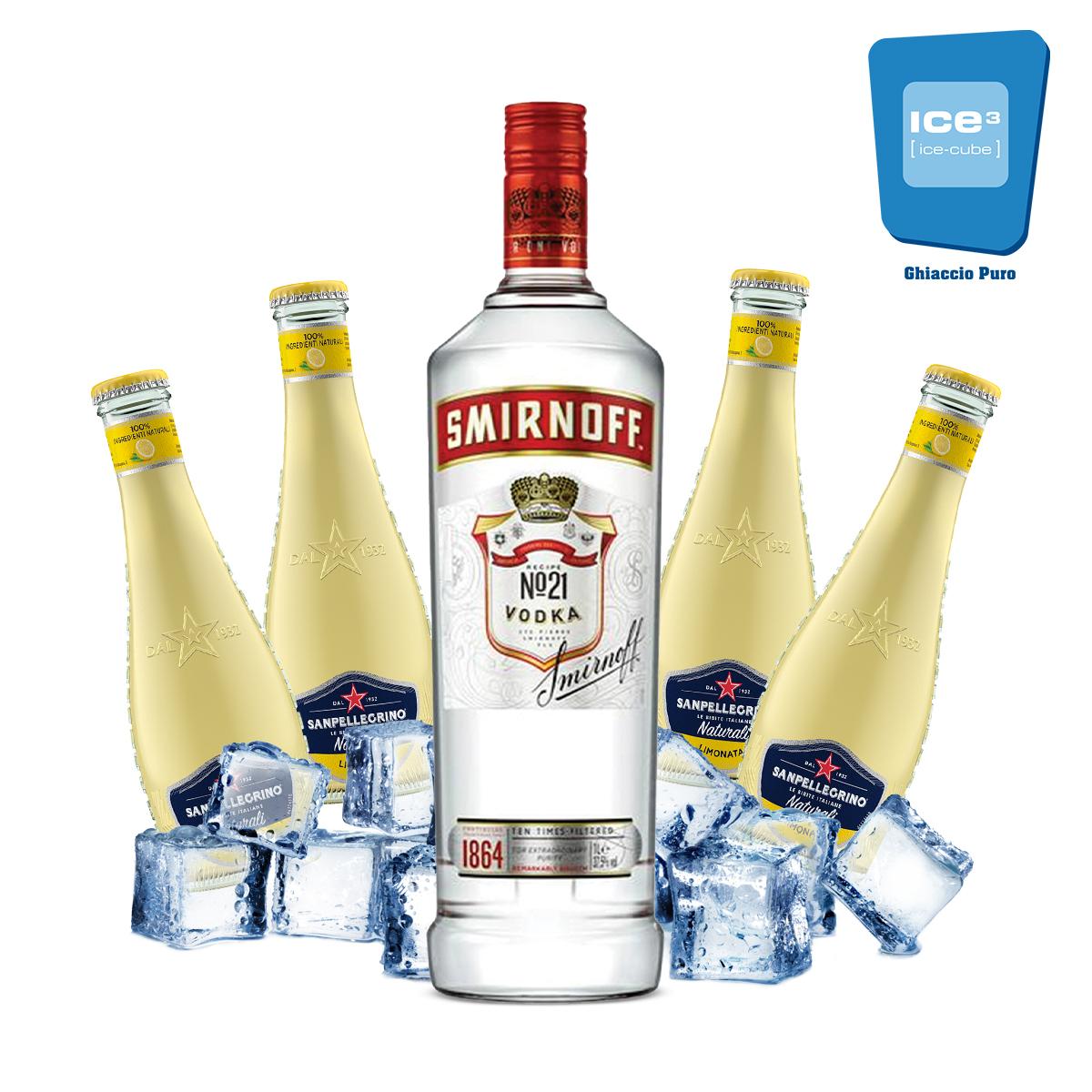 Smirnoff - Vodka Lemon Kit - per 10 persone