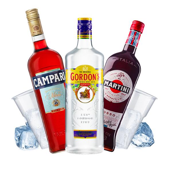 Gordon's - Negroni Cocktail Kit - per 16 persone