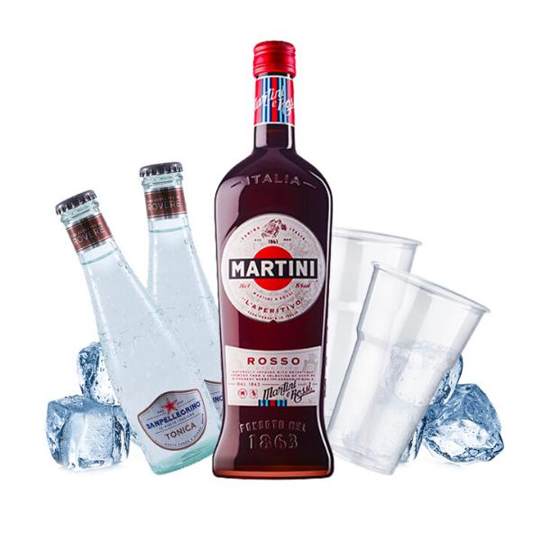 Martini Rosso e Tonic Kit - per 10 persone