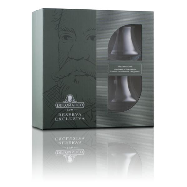 Rum Reserva Exclusiva (70 cl) - Confezione Regalo 2 Bicchieri