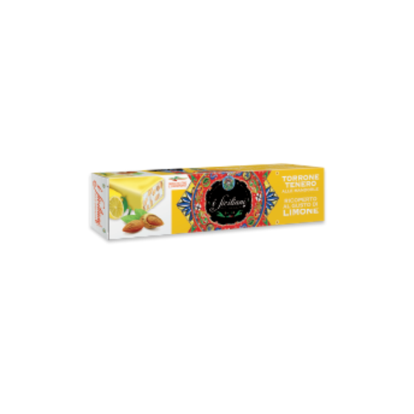 Torrone Tenero alle Mandorle Ricoperto al Gusto Limone (150 g)