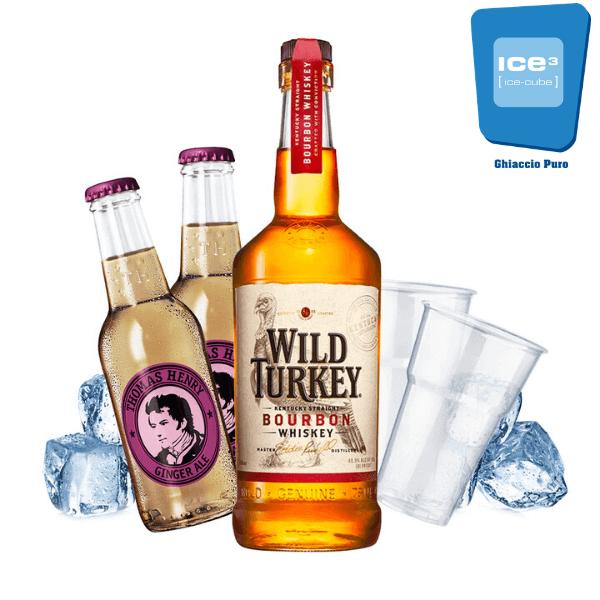 Wild Turkey - Wild & Ginger Kit - per 10 persone