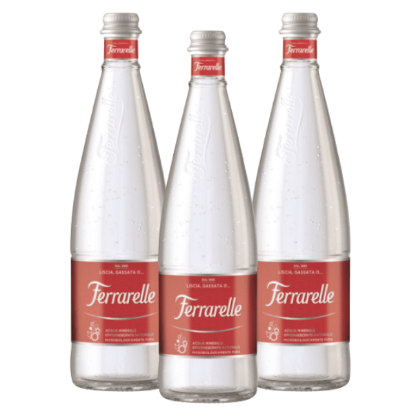 Acqua Ferrarelle Effervescente Naturale (75 cl) 3 pezzi