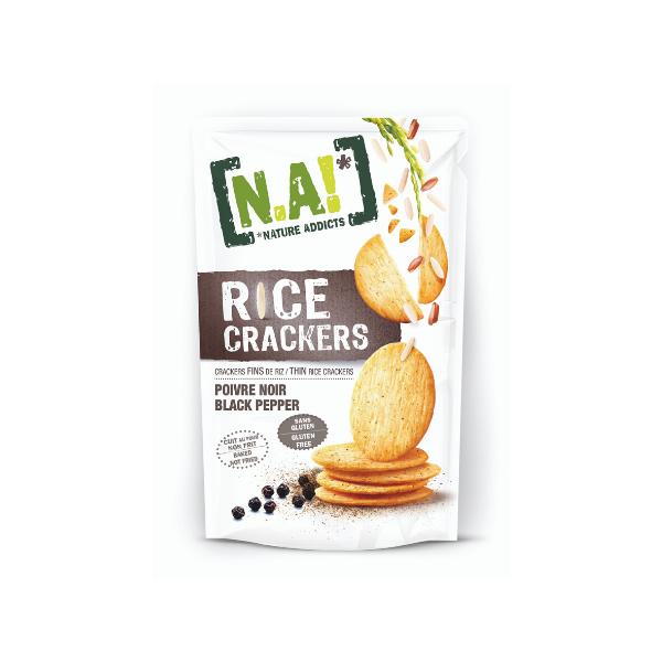 Crackers di Riso Sottili al Pepe Nero (70 g)