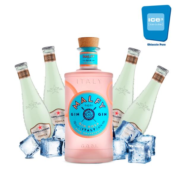 Malfy Rosa - Gin Tonic Kit - per 10 persone