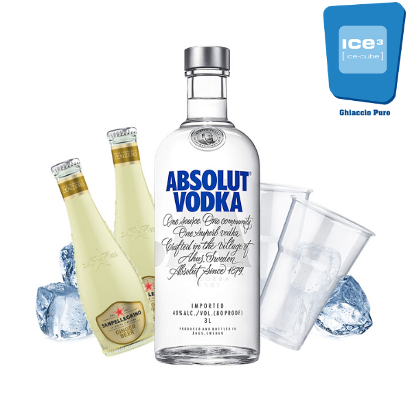 Absolut Mule Cocktail Kit - per 10 persone