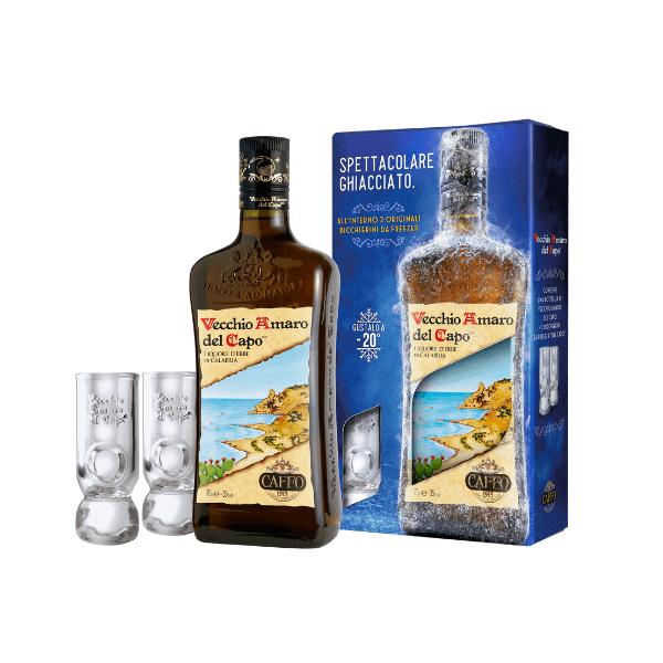 Vecchio Amaro del Capo Confezione Regalo 2 Bicchierini (70 cl)
