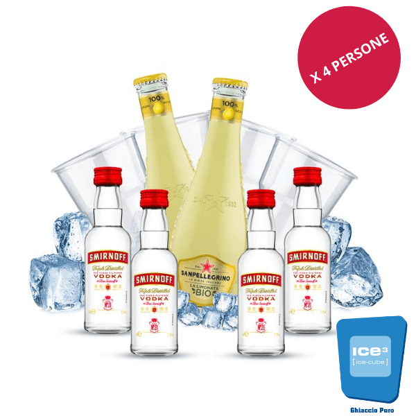 Smirnoff - Vodka Lemon Kit - per 4 persone