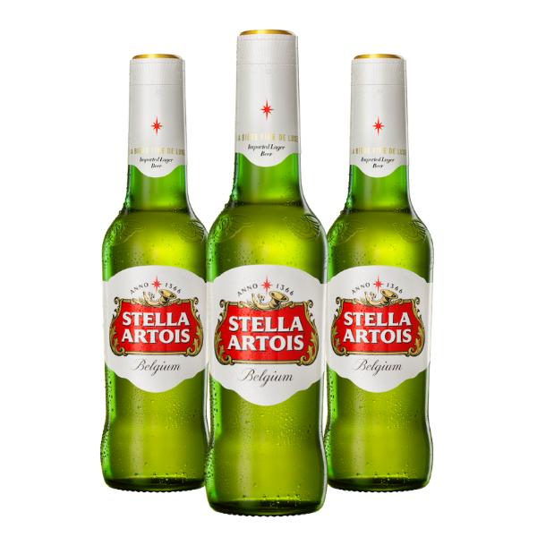Stella Artois Lager (33 cl) 3 pezzi