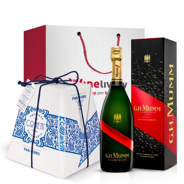 Kit Natalizio - Champagne e Pan d'Oro da 1 Kg