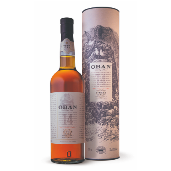 Oban Single Malt Scotch Whisky 14 Years Old (70 cl) Astucciato