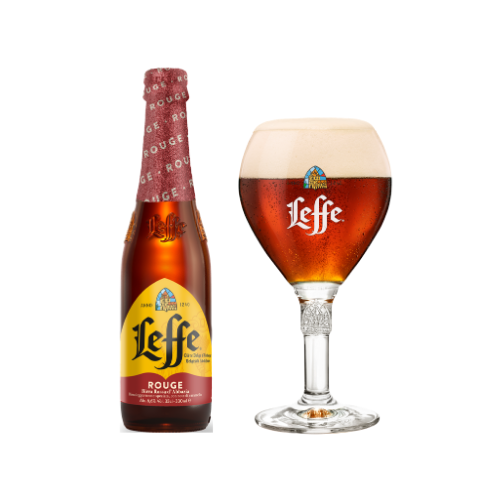 Leffe Rouge Belgian Ale (33 cl) - con calice incluso!