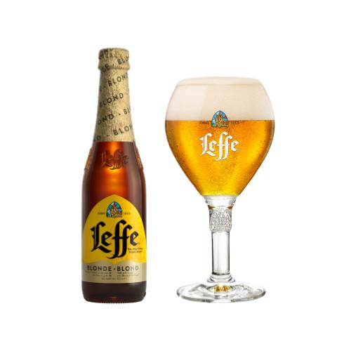 Leffe Blonde Belgian Ale (33 cl) - con calice incluso!