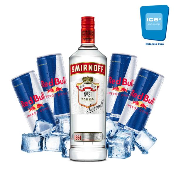 Smirnoff Vodka Red Bull Kit - per 10 persone