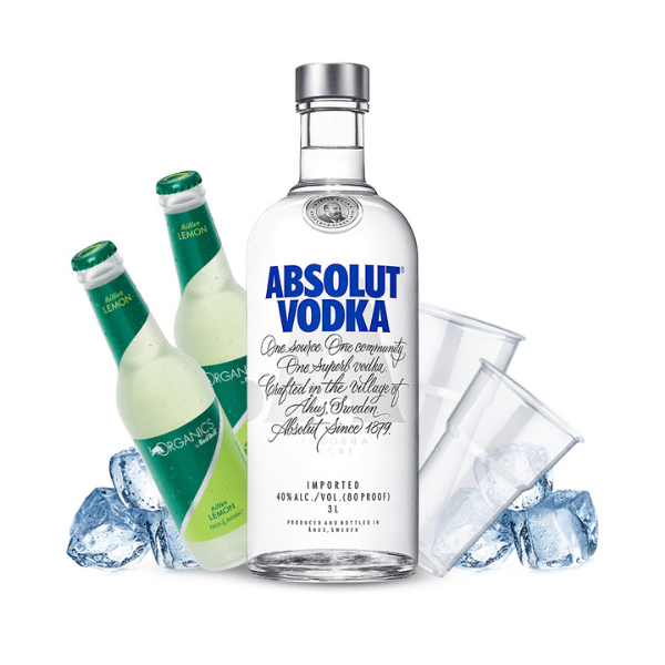 Absolut Vodka Lemon Kit - per 10 persone