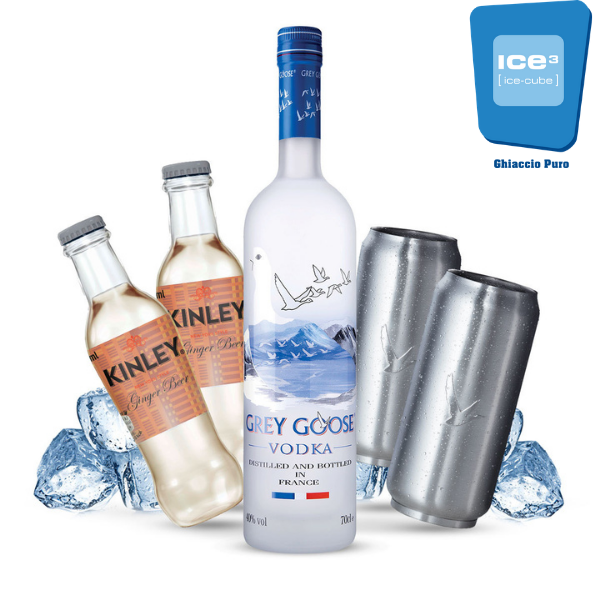 Grey Goose - French Mule Cocktail Kit - per 10 persone - con bicchieri Grey Goose in omaggio!