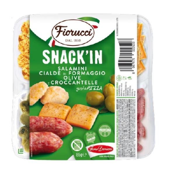Snack'In Poker - Salamini, Cialde di Formaggio, Olive e Croccantelle Gusto Pizza (85 g)