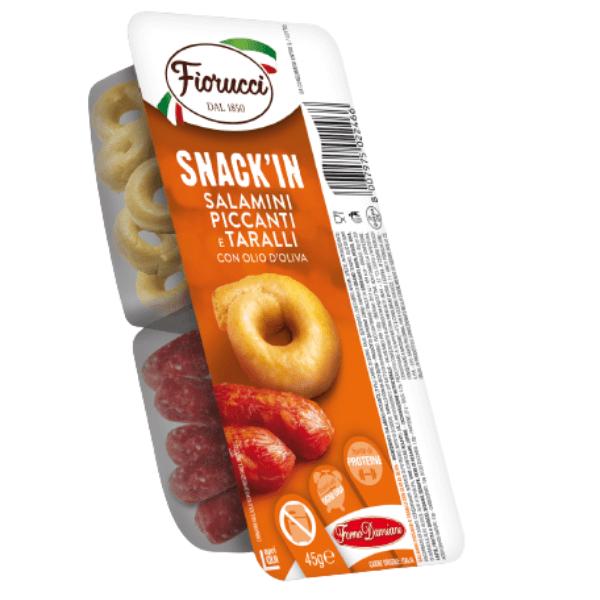 Snack'In Combo - Salamini Piccanti e Taralli Con Olio D'Oliva (45 g)