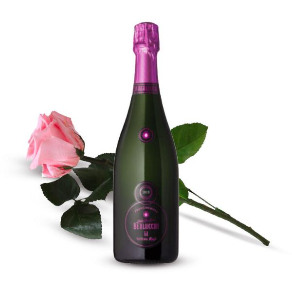 Kit Festa della Mamma - Franciacorta Rosé con una Rosa