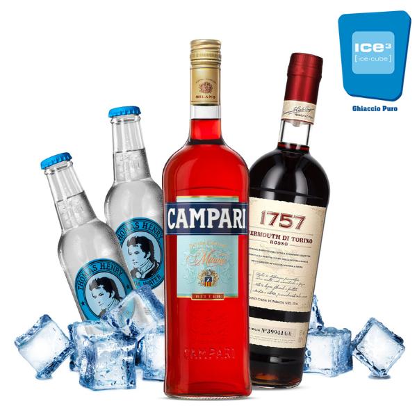 Campari Americano Cocktail Kit - per 10 persone