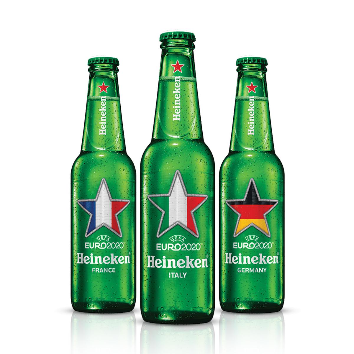 Heineken Euro 2020 (33 cl) - pack assortito 3 pezzi