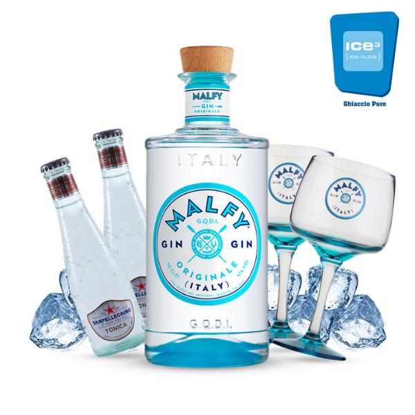 Malfy Originale - Gin Tonic Kit - per 10 persone con Cope in Omaggio!