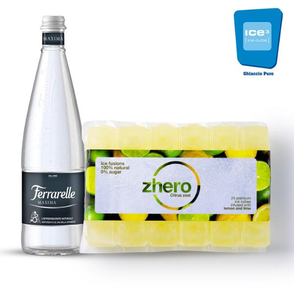 Kit Acqua Frizzante Ferrarelle Maxima e Ghiaccio Zhero Citrus Zest
