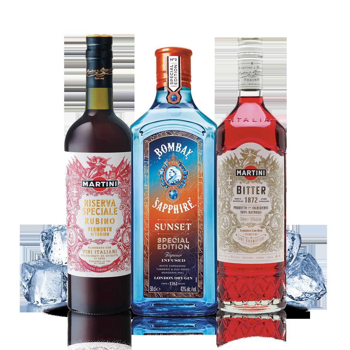 Bombay Sunset Negroni Cocktail Kit - per 10 persone